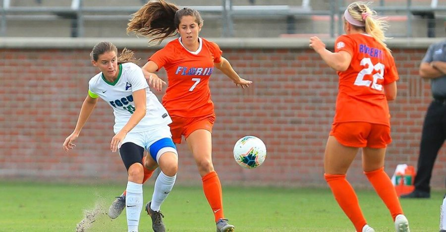 Photo+Provided+by+FGCU+Athletics+%2F%2F+FGCU+womens+soccer+continues+to+struggle+on+the+road+as+they+lose+to+the+Florida+Gators+4-0.