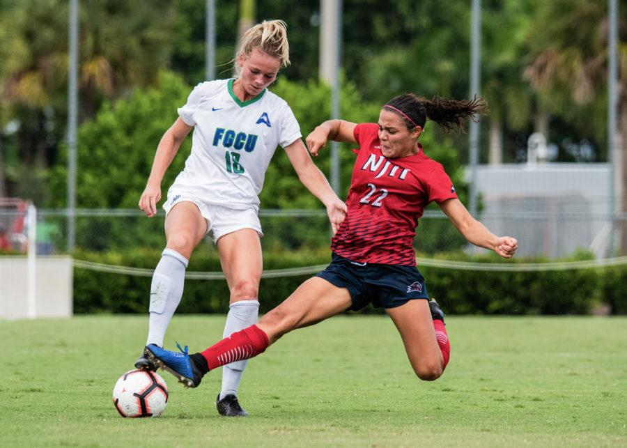 EN Photo by Julia Bonavita // Megan Young, junior, scored her first goal of the season as FGCU celebrated senior day with a 2-0 victory against NJIT.