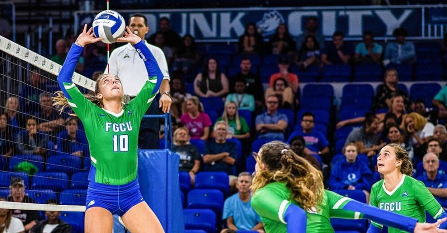 Photo+Provided+by+FGCU+Athletics+%2F%2F+Chelsey+Lockey+helped+the+Eagles+in+a+big+way+as+she+recorded+36+assists+in+the+3-0+win+against+Jacksonville%2C+extending+FGCU%27s+winning+streak+to+10.+