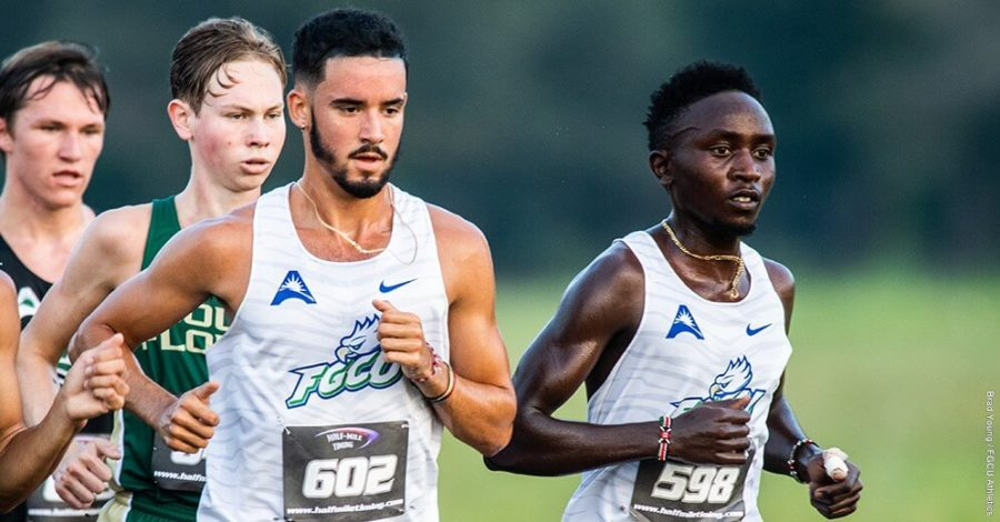 Photo Provided by FGCU Athletics // Lucas Kiprotich and Austin Redondo each set new 8k records in the mens 25th place finish on Saturday morning.