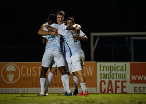 EN Photo by Julia Bonavita // FGCU mens soccer defeated #17 ranked UNC Charlotte 1-0 with a first-half goal. The Eagles are in position to take first place in the ASUN as they face NJIT in their next matchup at home.