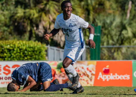 EN Photo by Julia Bonavita // OVonte Mullings game willing goal propelled the Eagles in their 2-1 ASUN semifinals victory over UNF.