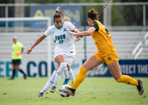 EN Photo by Julia Bonavita // The FGCU womens soccer teams season came to an end as Kennesaw State went the distance ending regulation in a 2-2 tie, lasting two scoreless overtime periods and edging the Eagles in penalty kicks 2-1.