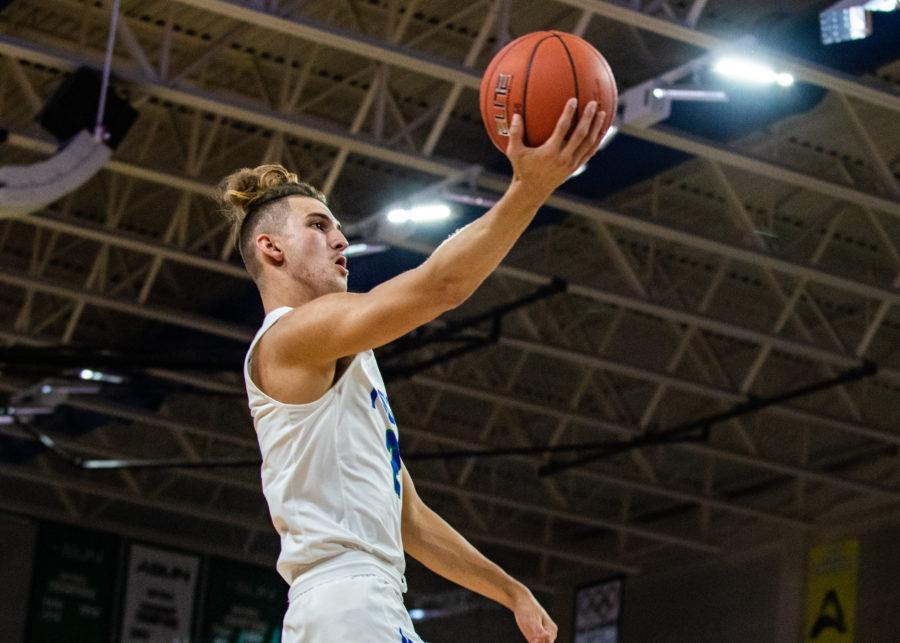 EN Photo by Julia Bonavita // Caleb Catto led the Eagles with 14 points and recorded a career-high four three-pointers, but it wasnt enough to get past a VCU defense that forced 27 turnovers.