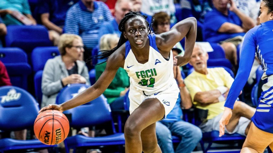 Photo Provided by FGCU Athletics // Nasrin Ulels season-high 23 points propelled the Eagles past Central Connecticut State 94-60, in their Tuesday night matchup at home.
