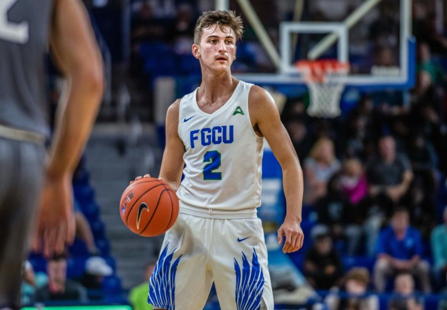 EN Photo by Julia Bonavita // Despite a career-high 16 points from Caleb Cato, the Eagles were unable to find a rhythm against UNF in their 89-74 loss.