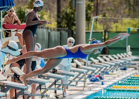 EN Photo by Julia Bonavita // The FGCU swimming and diving team opened their 2020 spring season with a 178-65 win this past Saturday.
