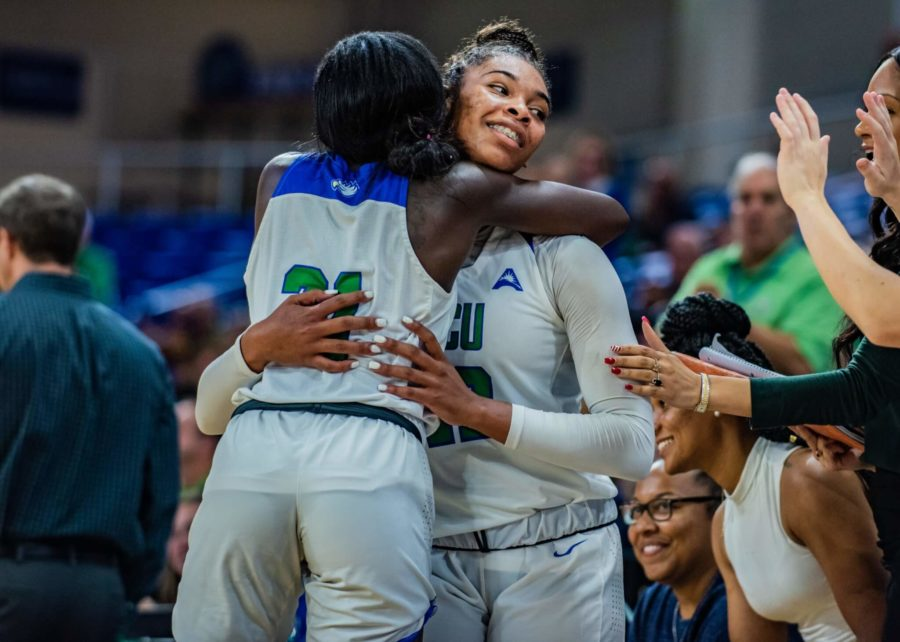 EN Photo by Julia Bonavita // Tytionia Adderly became the first Eagle in program history to surpass 1,000 career rebounds, as FGCU toppled Lipscomb 86-56 to open up ASUN competition.