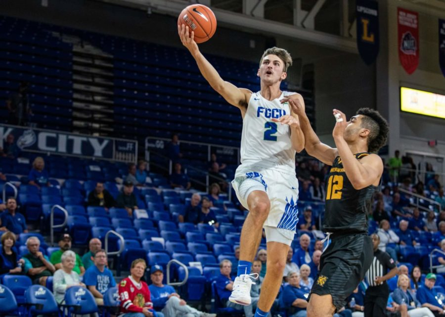 EN Photo by Julia Bonavita // Caleb Catto lead the Eagles to their second-straight conference win over Kennesaw State with 11 points.