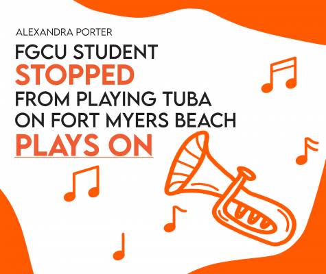 FGCU Student Stopped from Playing Tuba on Fort Myers Beach Plays On